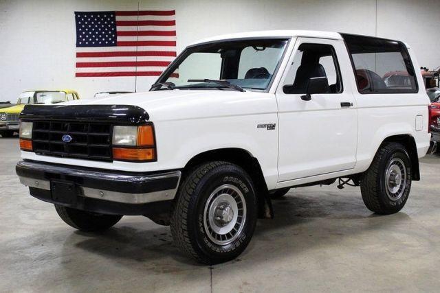 1990 Ford Bronco II 36307 Miles White SUV 2.9L EFI V6 ...