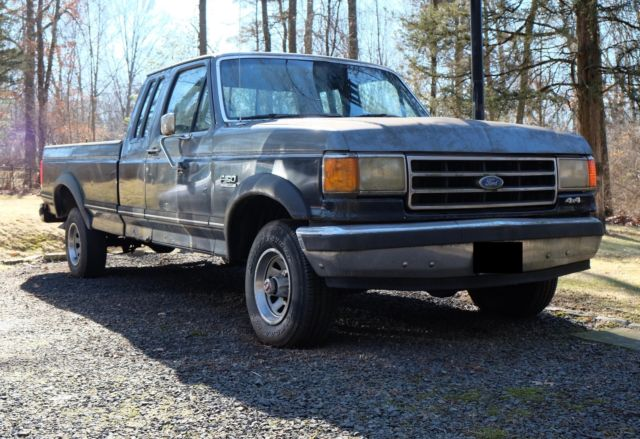 1990 ford f 150 lariat xlt ext cab 8ft bed manual trans classic ford f 150 1990 for sale. Black Bedroom Furniture Sets. Home Design Ideas