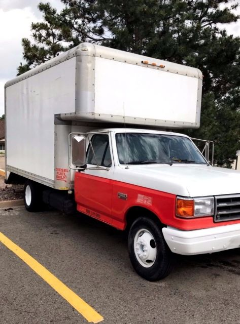 Ford 7.3 Diesel For Sale >> 1990 Ford F-350 14' Box Truck - Classic Ford F-350 1990 for sale