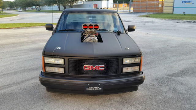 1990 Gmc Sierra 1500 V8 Satin Black With 350 Small Block