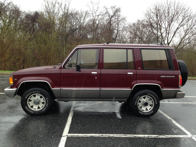 trooper ls v6 4 wheel drive   classic isuzu trooper 1990 for sale