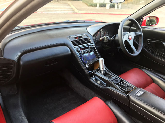 1990 jdm honda nsx acura nsx japan import very rare coupe red black auto clean classic acura. Black Bedroom Furniture Sets. Home Design Ideas