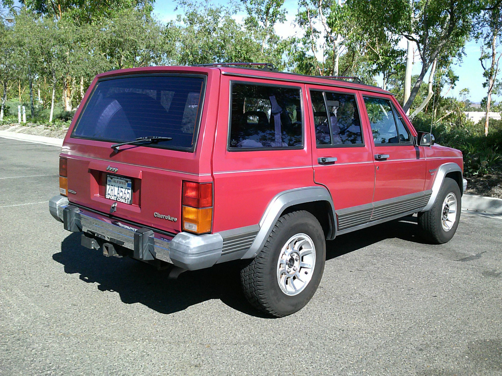 1990 jeep cherokee laredo xj classic rust free california car one family owned classic jeep. Black Bedroom Furniture Sets. Home Design Ideas