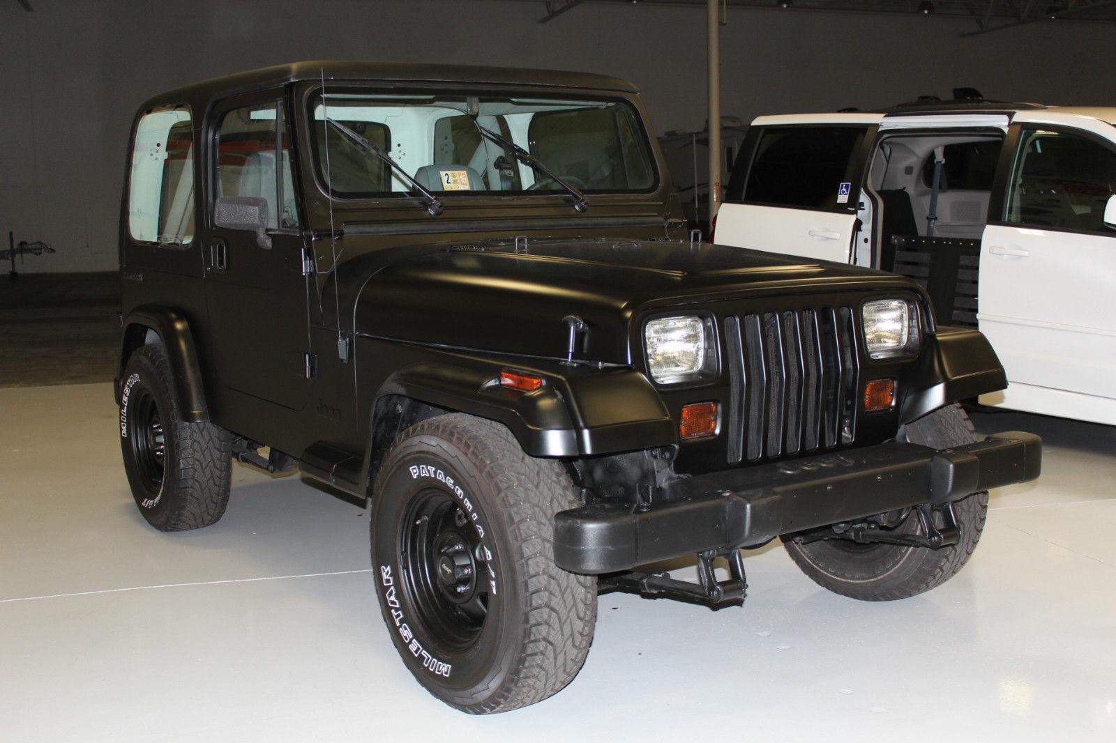 1990 Jeep Wrangler Base Sport Utility 2 Door 4 2l Black Hardtop New Tires Belts Classic Jeep