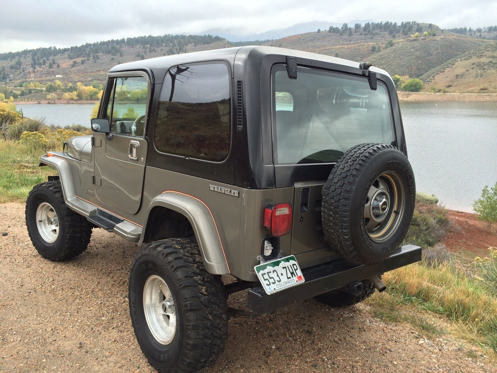 1990 jeep wrangler sahara sport utility 2 door 4 2l classic jeep wrangler 1990 for sale. Black Bedroom Furniture Sets. Home Design Ideas