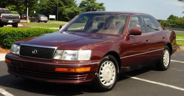 1990 lexus ls400 sedan burgundy pearl nice l k nr. Black Bedroom Furniture Sets. Home Design Ideas