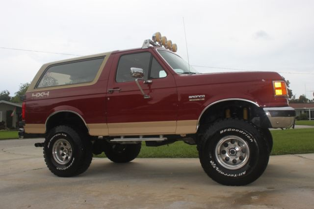 Used Suv For Sale In Florida >> 1990 Lifted Ford Bronco Eddie Bauer 4x4 - Classic Ford Bronco 1990 for sale
