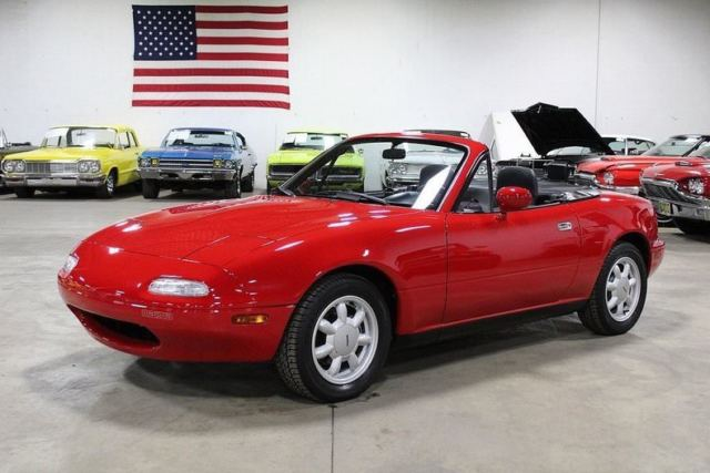 1990 mazda mx 5 miata 14354 miles classic red convertible 1 6l 4 cylinder 5 spe classic mazda. Black Bedroom Furniture Sets. Home Design Ideas