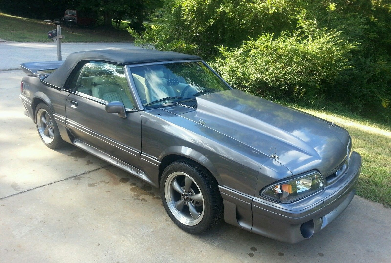1990 mustang foxbody gt 5 0 convertible classic ford mustang 1990 for sale. Black Bedroom Furniture Sets. Home Design Ideas
