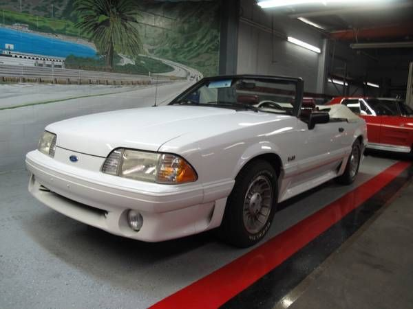1990 mustang gt 5 0 25th anniversary convertible white w all red interior classic ford. Black Bedroom Furniture Sets. Home Design Ideas