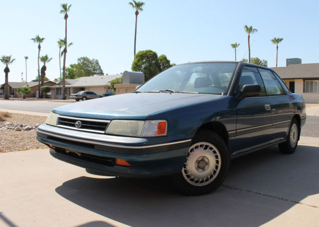 1990 Subaru Legacy 4 Door Sedan Blue Daily Driver