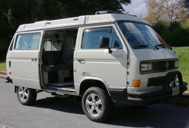 1990 Volkswagen Vw Westfalia Pop Top Camper Syncro Awd