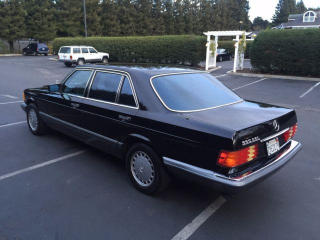 1991 560sel mercedes w126 black on black 170k miles classic mercedes benz 500 series 1991 for sale. Black Bedroom Furniture Sets. Home Design Ideas