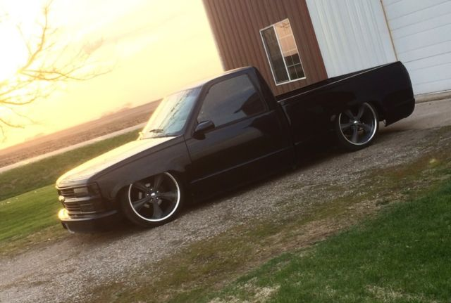 """Cars For Sale In Iowa >> 1991 Chevrolet c1500 shortbed truck with AIR RIDE and 22"""" wheels shaved body ! - Classic ..."""