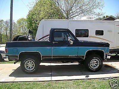 Chevrolet Chevy Full Size Silverado Blazer X Great Condition on 1991 Chevrolet Blazer