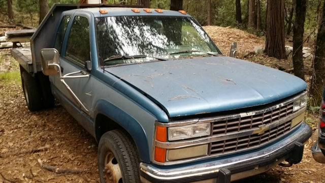 1991 Chevrolet Chevy Pickup 3500 k30 Flatbed 4X4 Dually ...