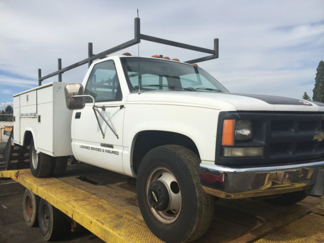Truck Pipe Rack >> 1991 Chevrolet Utility Truck 3500 Heavy Duty With Pipe Rack No