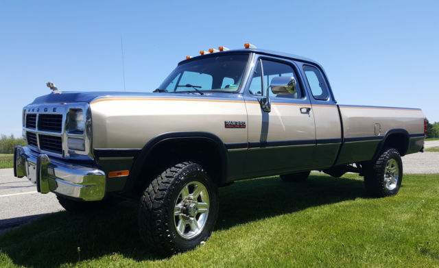 1991 dodge w250 le extended cab cummins 4x4 from kentucky beautiful restoration classic dodge. Black Bedroom Furniture Sets. Home Design Ideas