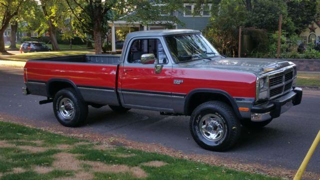 1991 dodge w250 pickup 5 9l cummins diesel 4x4 5spd 2nd owner 95k original miles classic dodge. Black Bedroom Furniture Sets. Home Design Ideas