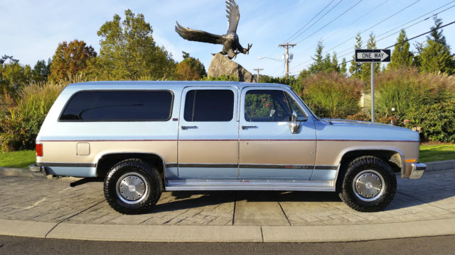 1991 gmc suburban 2500 sle 48k original miles 6 2l turbo. Black Bedroom Furniture Sets. Home Design Ideas