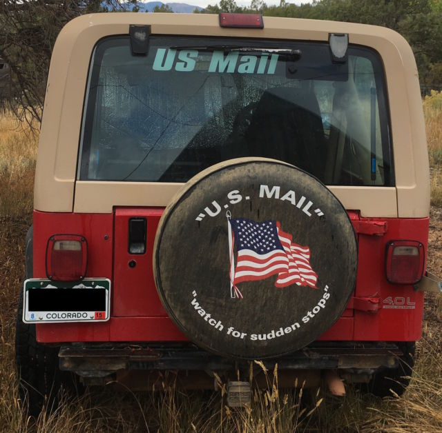 1991 Right-Hand Drive Postal / Mail Jeep Wrangler FOR