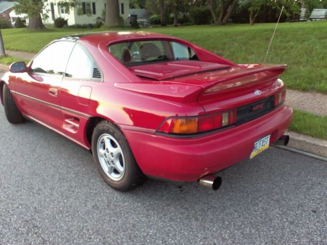 1991 toyota mr2 turbo 5 speed red classic toyota mr2 1991 for sale. Black Bedroom Furniture Sets. Home Design Ideas