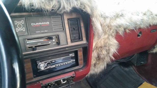 1991 5 Dodge W250 4wd 5 9l Cummins Intercooled 1991 2500