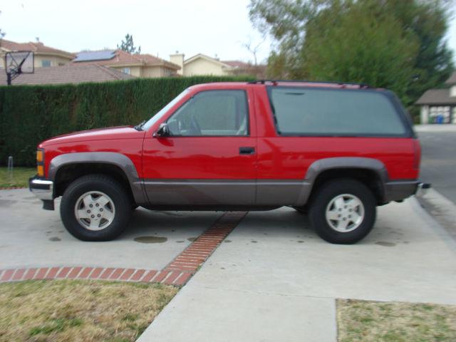 1992 Chevrolet Blazer 2 door 1993 1994 1995 1996 1997 1998 ...