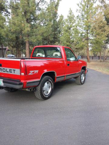 1992 Chevrolet K1500 Z71 2 Door Short Bed 1 2 Ton 5 7l Tbi