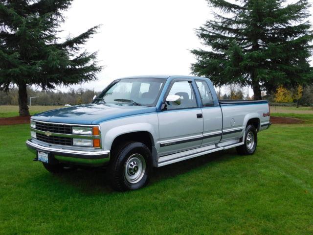 1992 Chevrolet K2500 Silverado Extended Cab Pickup 2 Door 5 7l 112k