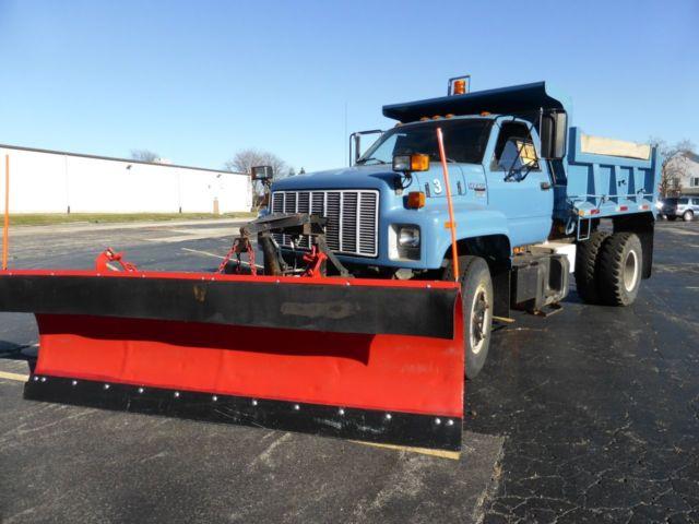 1992 Chevrolet Kodiak Topkick Dump Truck W 12 Snow Plow