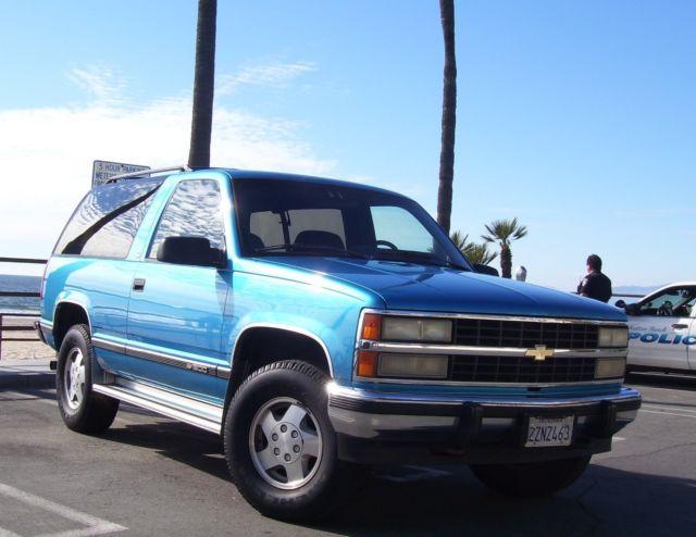 1992 Chevy K 1500 Full Size Blazer With Silverado Trim