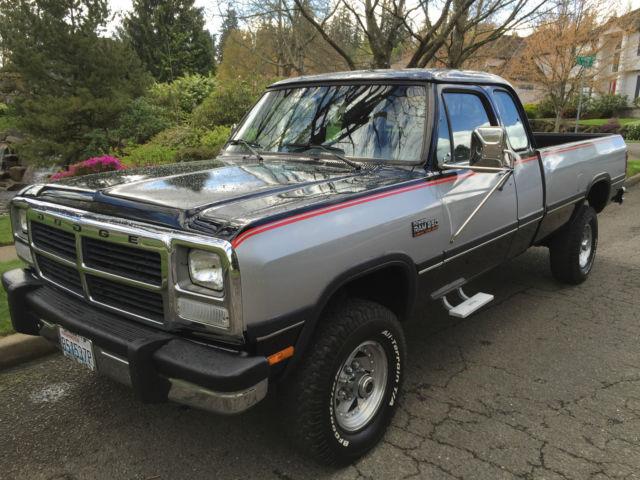 1992 Dodge Ram 2500 4x4 Extra Cab Cummins Diesel First Gen