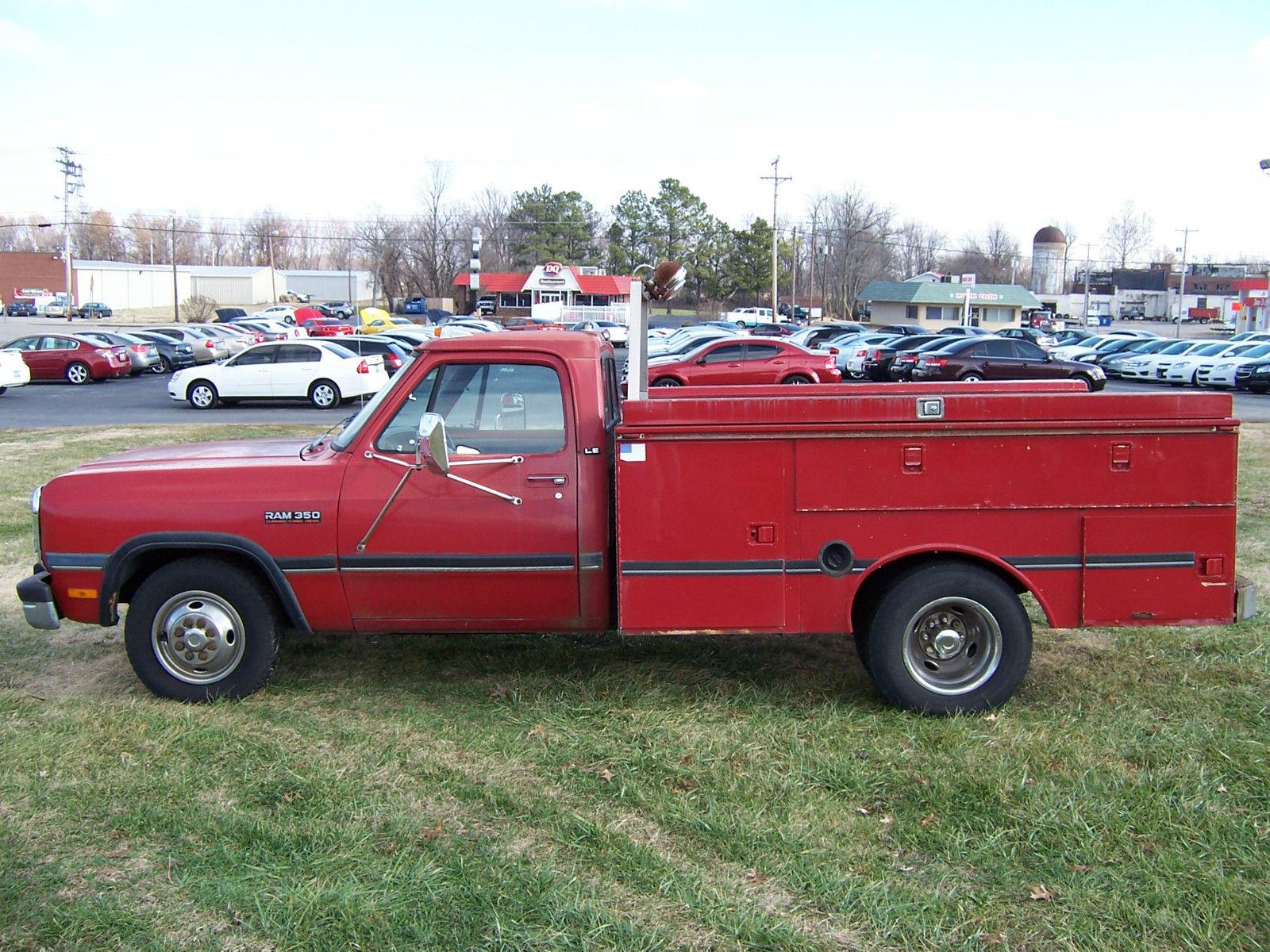 1992 Dodge Ram 3500 12 Valve Cummins Diesel Utility Bed