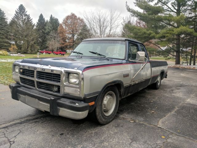 1992 Dodge Ram D250 2500 12v Cummins Turbo Diesel Extended