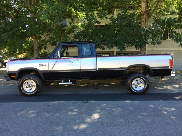 1992 Dodge Ram W250 4x4 Club Cab 5 9l Cummins Turbo Diesel