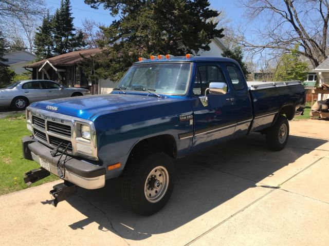 1992 Dodge W250 Cummins 5 9 Classic Dodge Ram 2500 1992