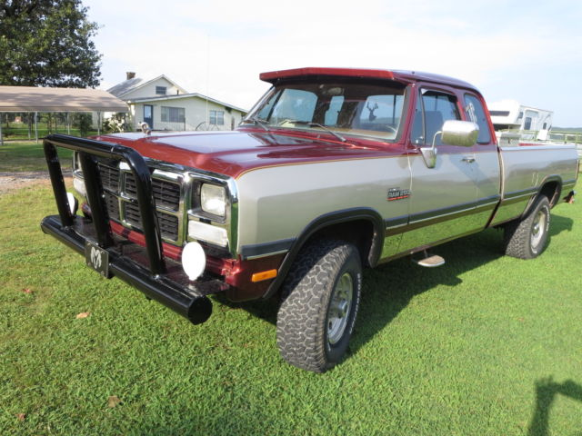 Ram 2500 Diesel For Sale >> 1992 Dodge W250 Cummins diesel 4x4 extended cab, auto transmission, Very nice. - Classic Dodge ...