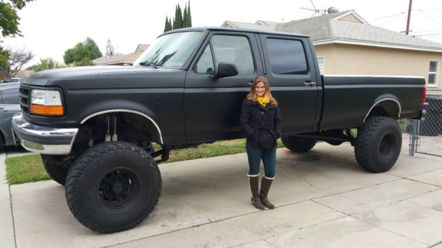 """1992 Ford F-350 Crew Cab Long Bed 4x4 10"""" Lift 37"""" Tires ..."""
