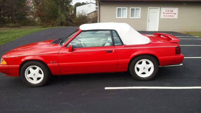 1992 Ford Mustang 50 Summer Special Vibrant Red Convertible