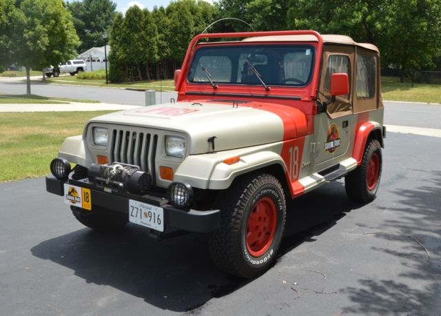 1992 jeep wrangler sahara jurassic park classic jeep wrangler 1992 for sale. Black Bedroom Furniture Sets. Home Design Ideas