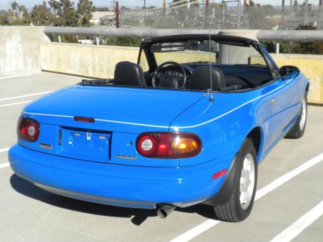 Mazda Miata Rare Mariner Blue Owner Only K Miles Museum Condition on Mazda Miata Oil Filter Location