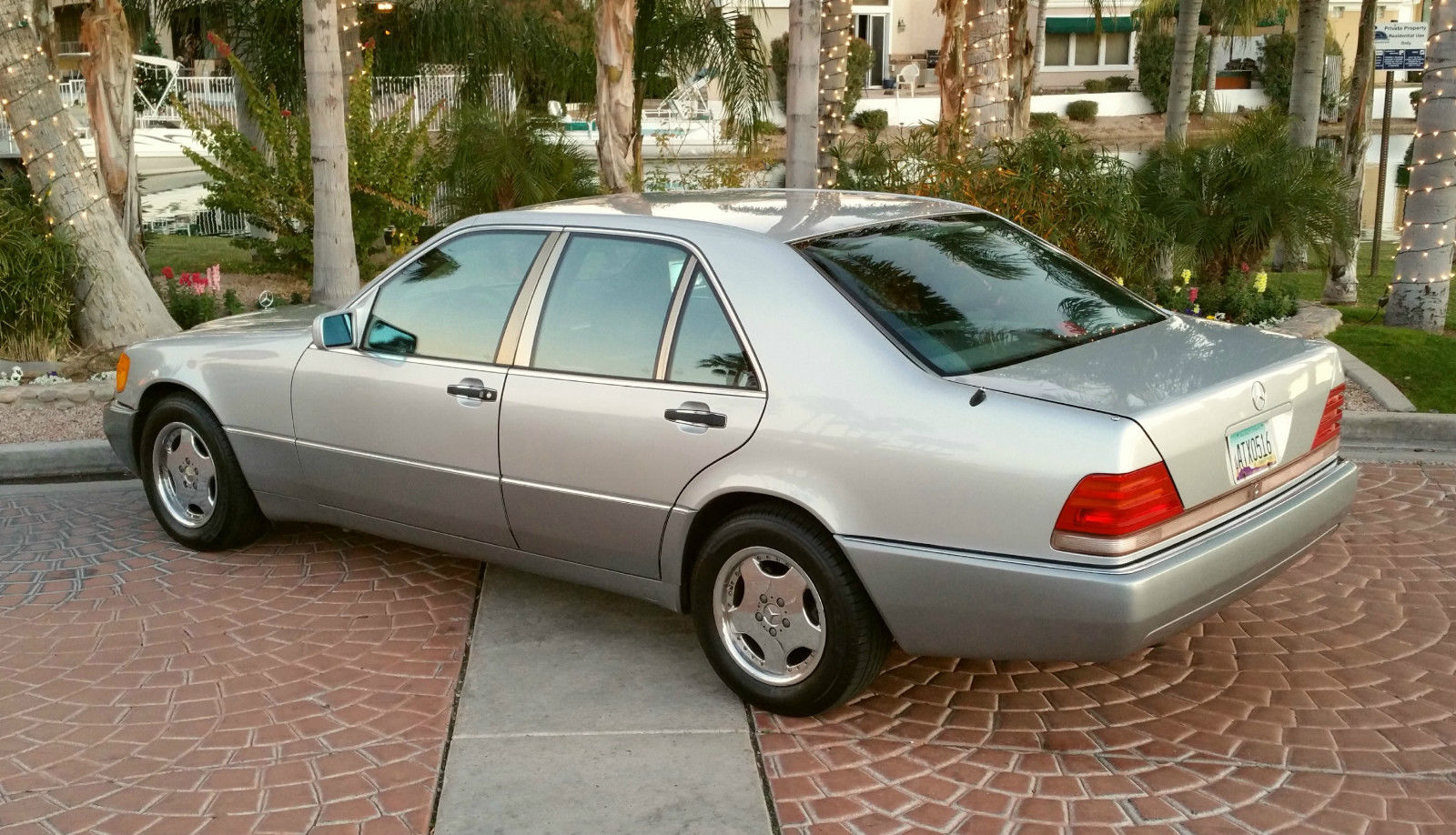 1992 mercedes benz 400se swb v8 silver black new tires for Mercedes benz 400 se
