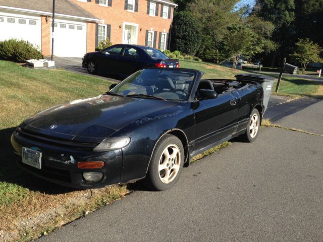 1992 Toyota Celica Gt Convertible Runs But Engine Needs Major Work