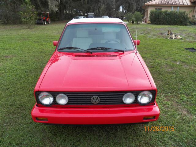 1992 VW Golf Rabbit Cabriolet MK1 Wolfsburg - Classic ...