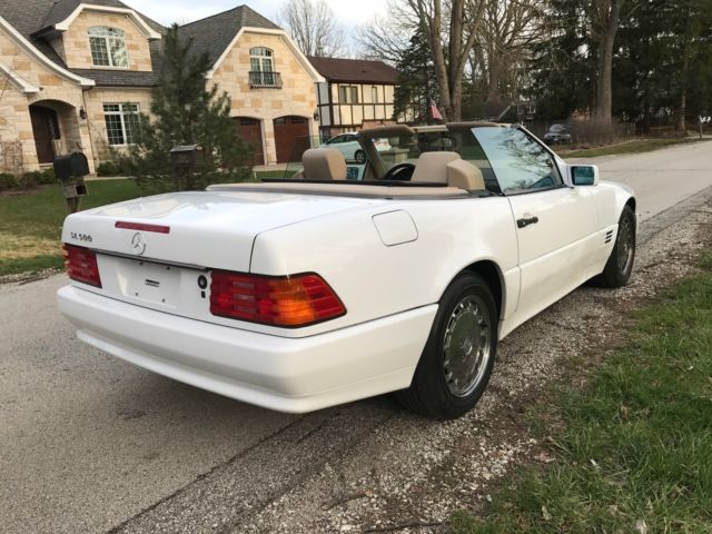 1992 white mercedes benz 500 sl convertible low miles for Mercedes benz 500 convertible