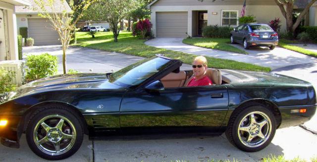 1993 chevrolet corvette convertible special 40th anniversary edition green tan classic. Black Bedroom Furniture Sets. Home Design Ideas