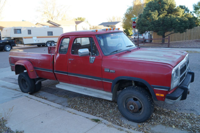 1993 Dodge Ram 350 Club Cab Dually CUMMINS 5 speed 4x4 ...