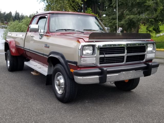 1993 Dodge Ram W-250 Cummins Diesel Club Cab Long Bed ...