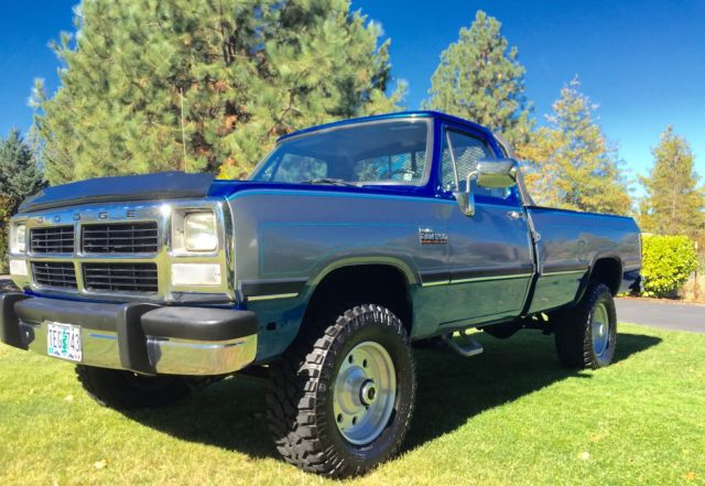 1993 Dodge Ram W250 Cummins Turbo Diesel 12 Valve 4x4, Low ...